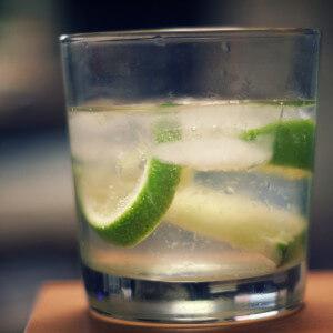 gin tonic limoen