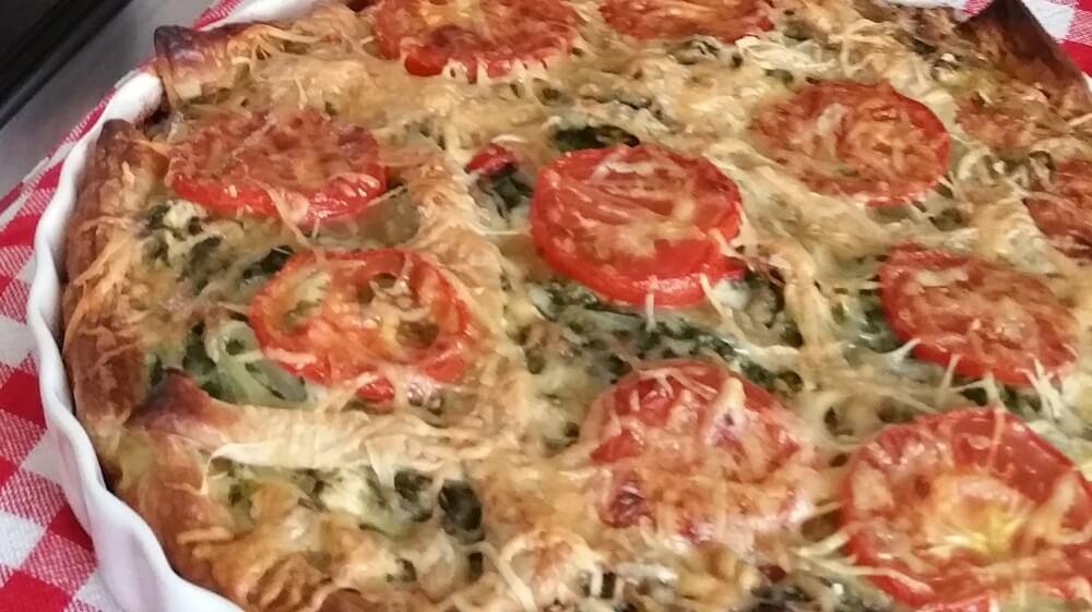 spinazietaart met gehakt