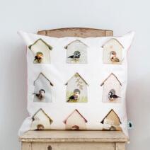 Studio Ditte - Viving.nl - kussen vogelhuisjes