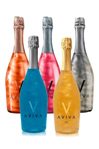 De verschillende kleuren van Aviva Sparkling Wine
